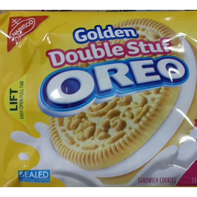 Calories In Golden Double Stuf Sandwich Cookies From Oreo
