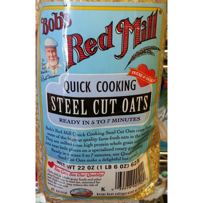 Calories In Quick Cooking Steel Cut Oats From Bob S Red Mill