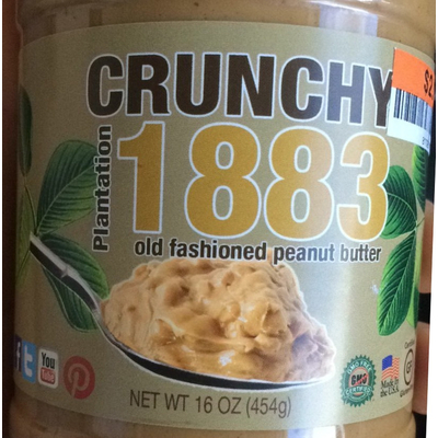 1883 Crunchy Old Fashioned Peanut Butter image