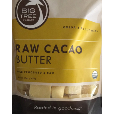 Big Tree Farms, Raw Cacao Butter
