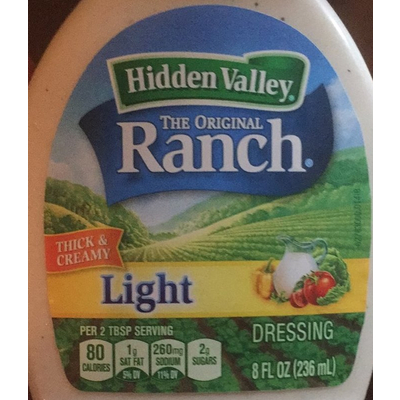 Calories In Fiesta Salsa Ranch Dressing From Hidden Valley