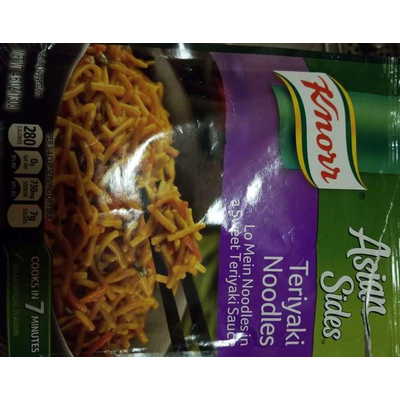 Calories In Asian Sides Teriyaki Noodles Lo Mein Noodles In A Sweet From Knorr