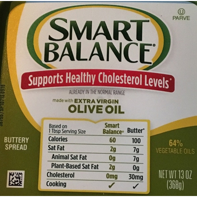 Calories In Extra Virgin Olive Oil Buttery Spread From Smart Balance