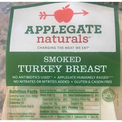 Calories In Smoked Turkey Breast From Applegate Naturals