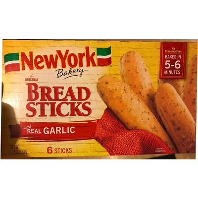 Calories In Bread Sticks With Real Garlic From New York Bakery