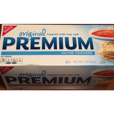 Calories In Premium Saltine Crackers Original From Nabisco