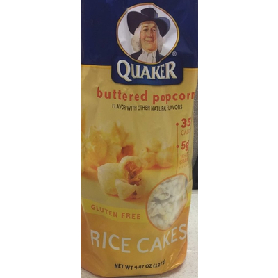 Calories In Buttered Popcorn Rice Cakes From Quaker